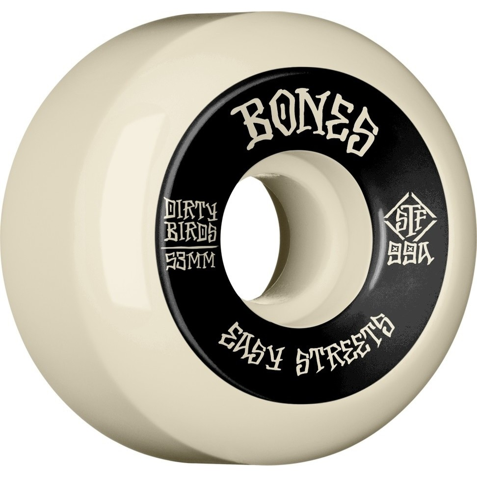 Dirty Birds Easy Streets Sidecuts Wheels (White)