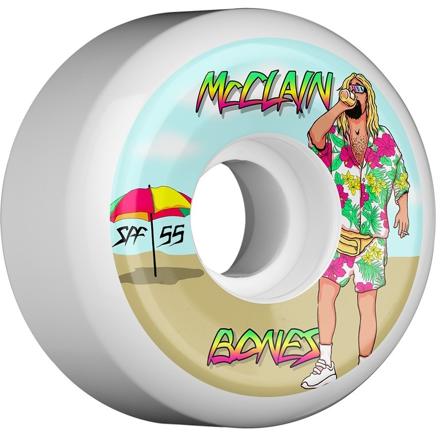 McClain Beach Bum Sidecuts Wheels (White)