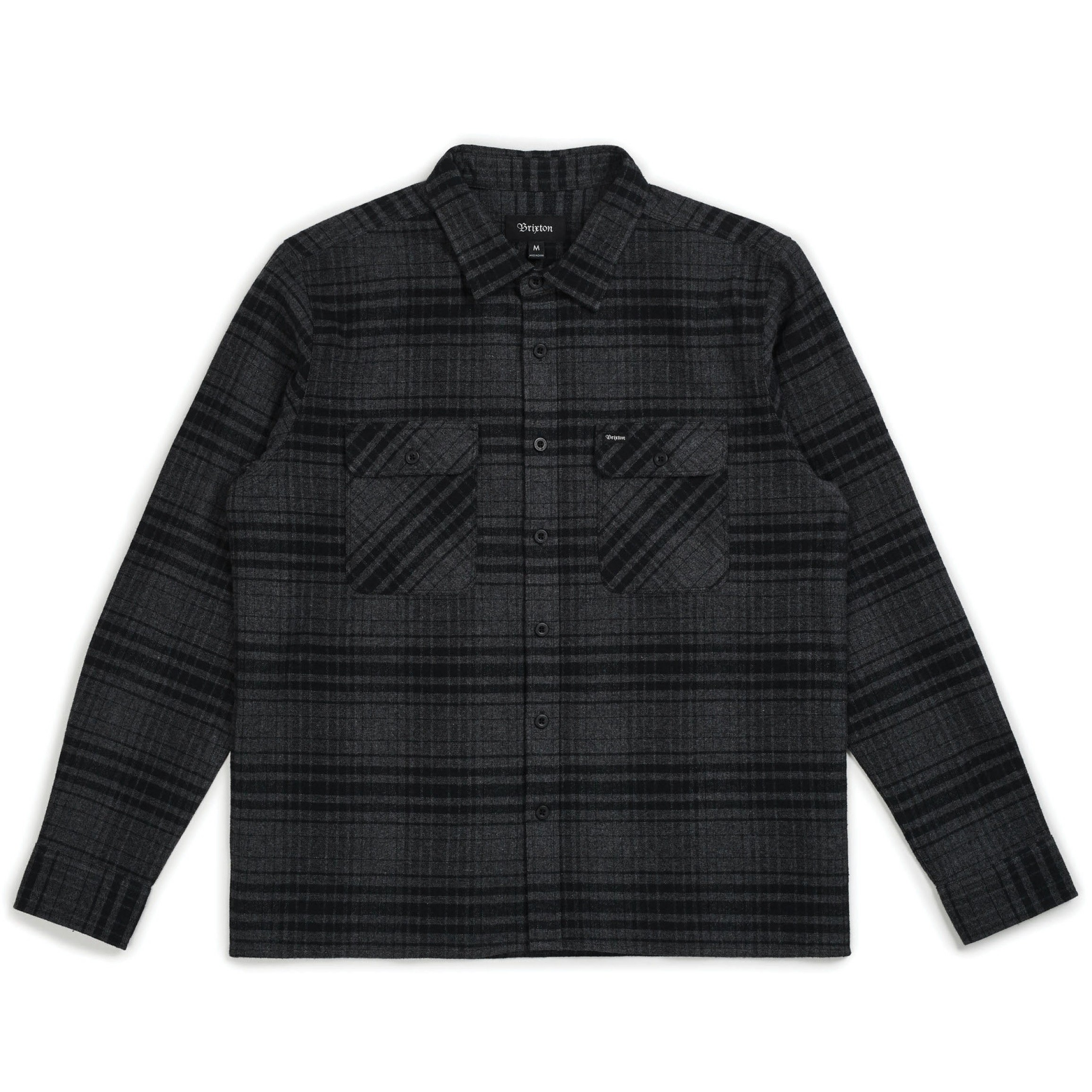 Archie L/S Flannel (Black/Heather Charcoal)