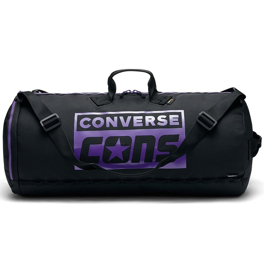 3 Way Duffel (Black/Purple)