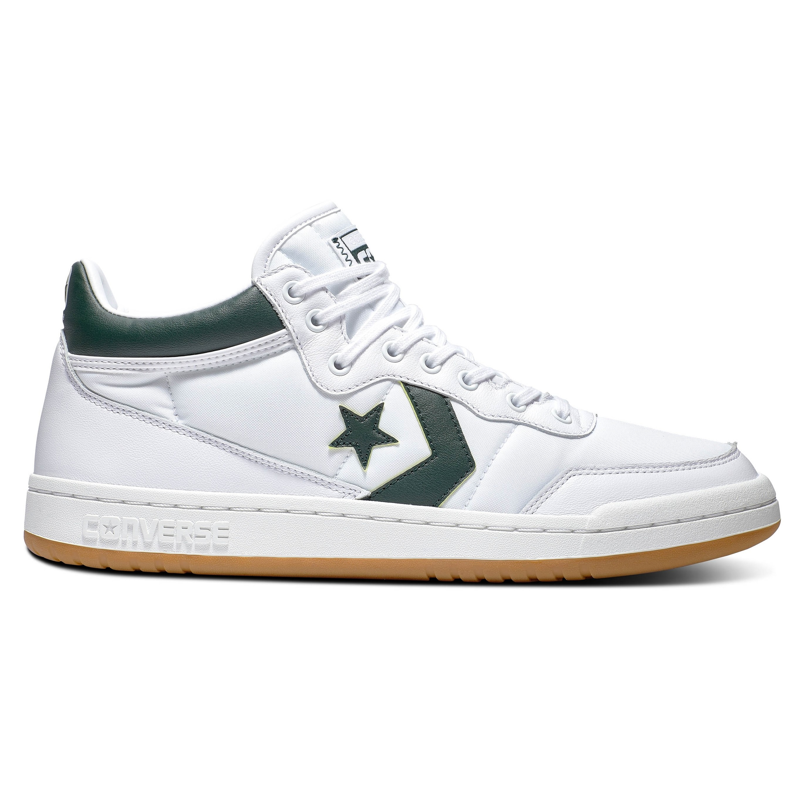 Fastbreak Pro Mid (White/Deep Emerald/Gum)