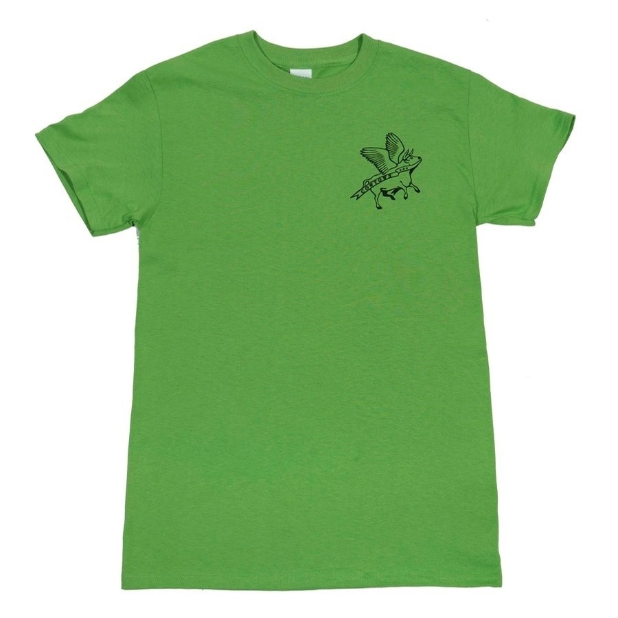 Flying Cow Outline Youth Tee (Kiwi/Black)