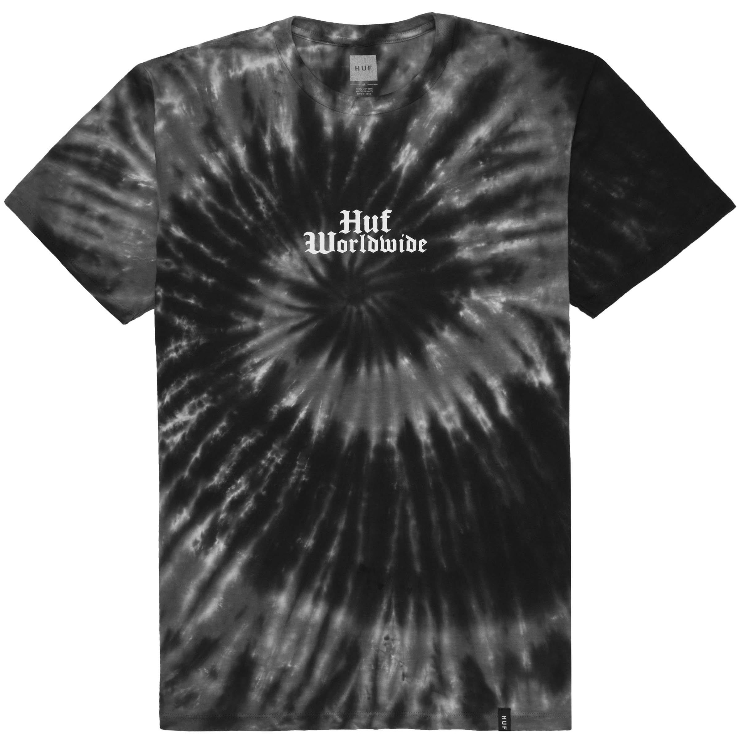 b3646bb9afa7 Bar Bird Tie-Dye S S Tee (Black). Huf