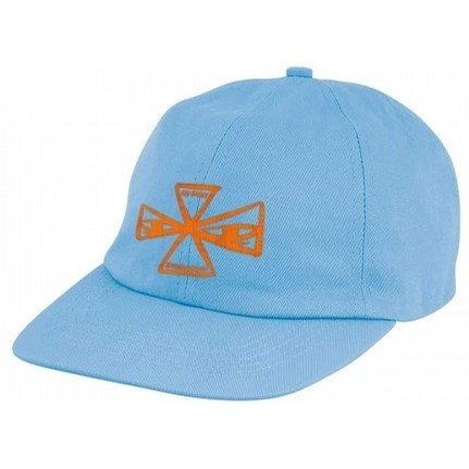 Barbee Cross Unstructured Low Strapback Hat (Powder Blue)