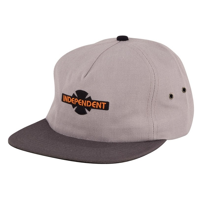 Generation B/C Unstructured Low Strapback Hat (Light Grey/Charcoal)
