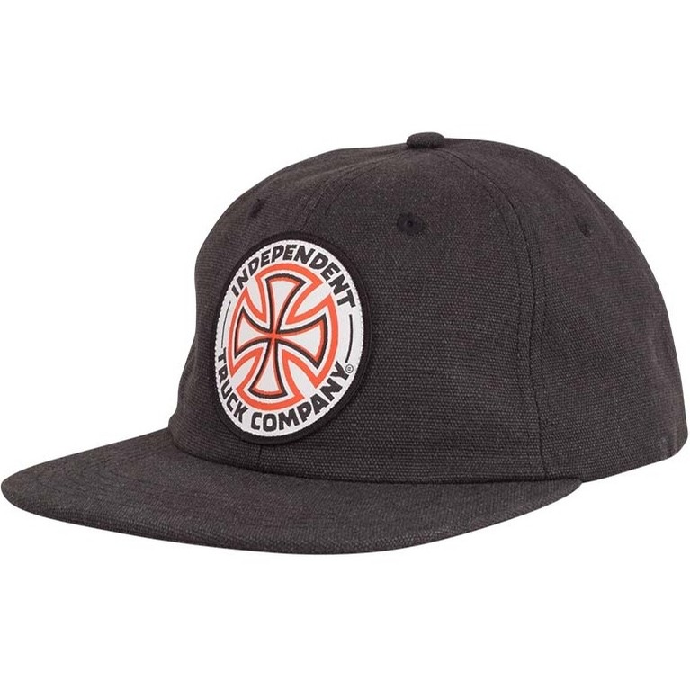 Red White Cross Snapback High Profile Hat (Black)