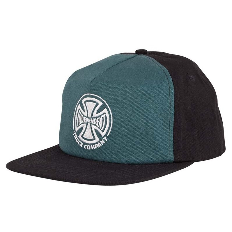 Truck Co. Embroidery Snapback Low Profile Hat (Forest/Black)