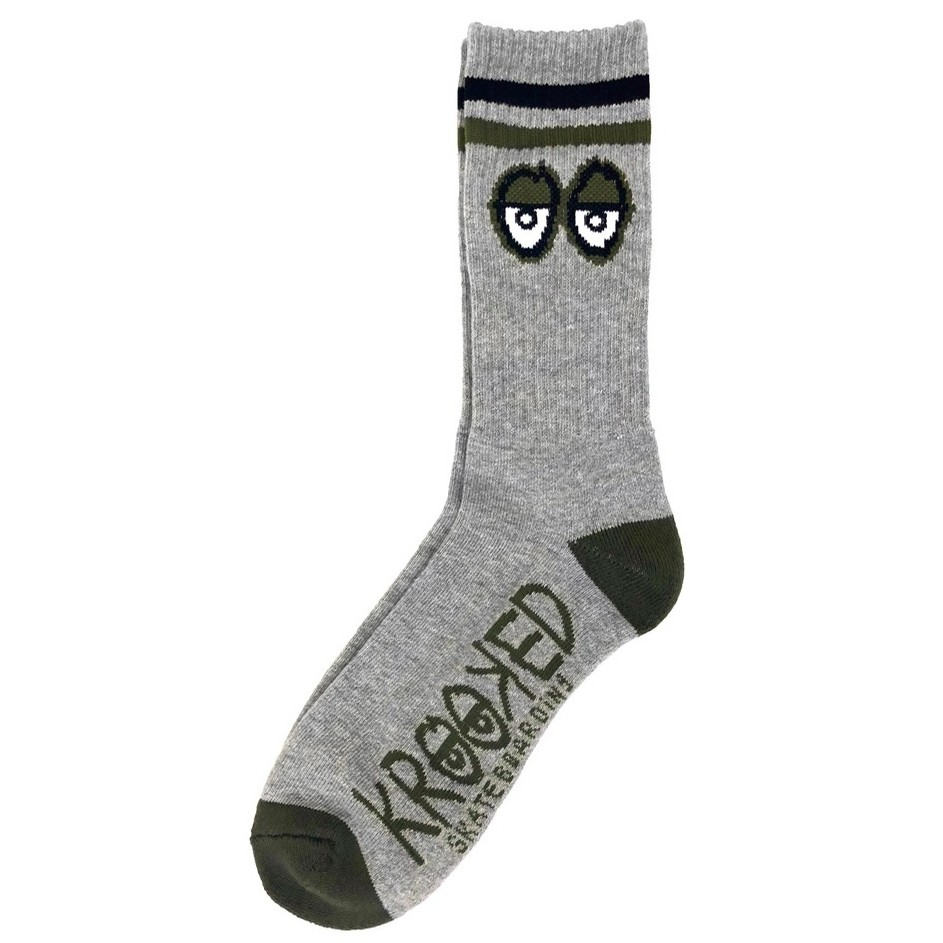 Big Eyes Sock (Heather/Black/Army)