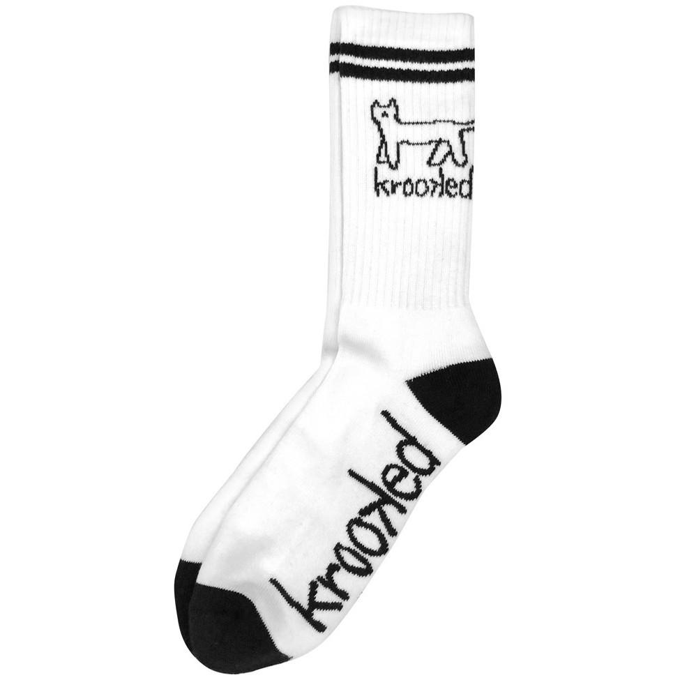 Kat Sock (White/Black)