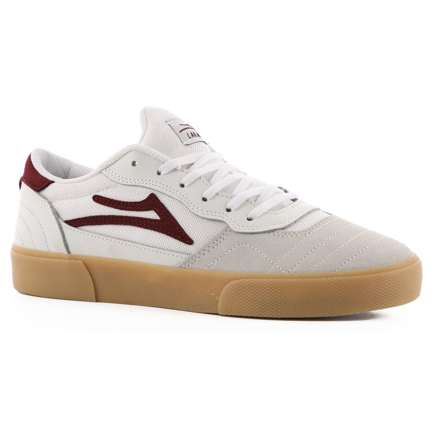 Cambridge (White/Burgundy Leather)