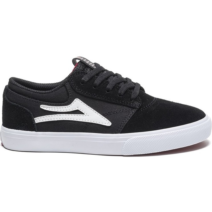Kids Griffin (Black/White Suede)
