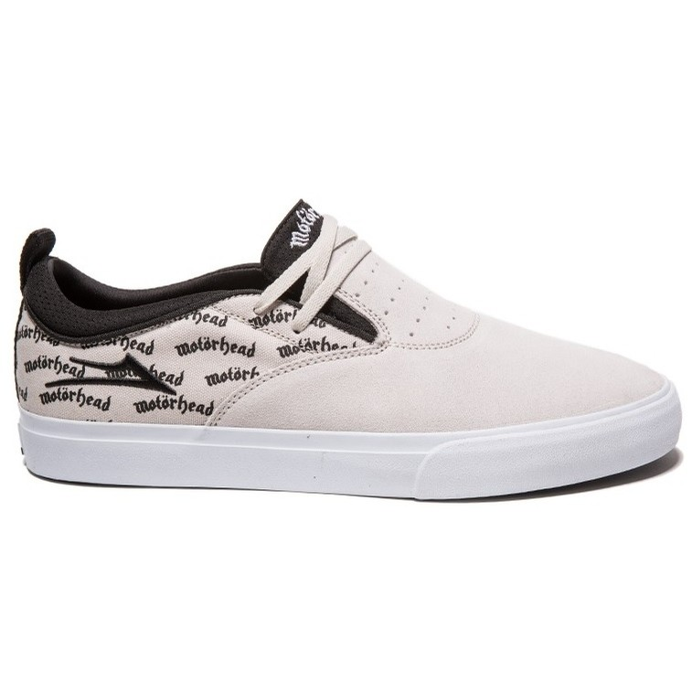 Riley 2 X Motorhead (White/Black Suede)