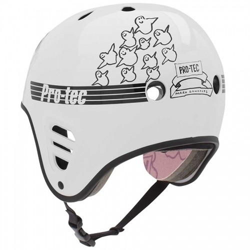 Full Cut Skate Helmet (Gonz Gloss White)