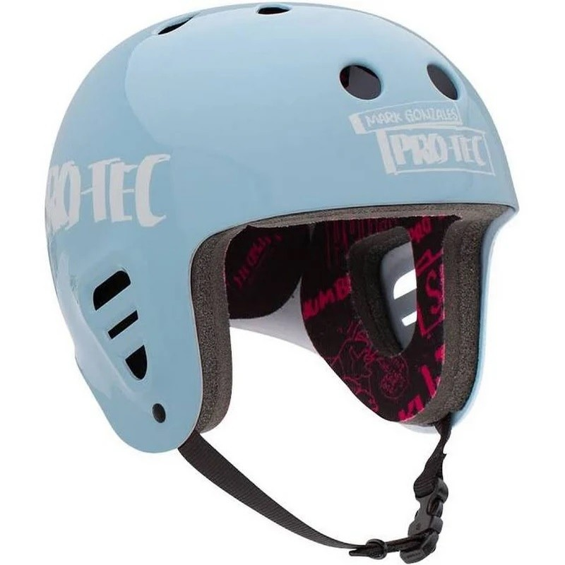 Gonz 2 Full Cut Skate Helmet (Light Blue)