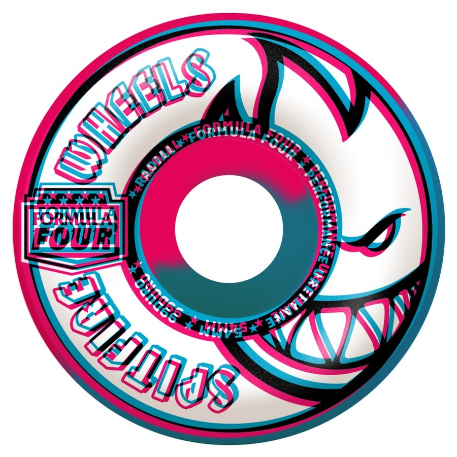 F4 99 Overlay Radial Swirl Wheels (Pink/Blue)