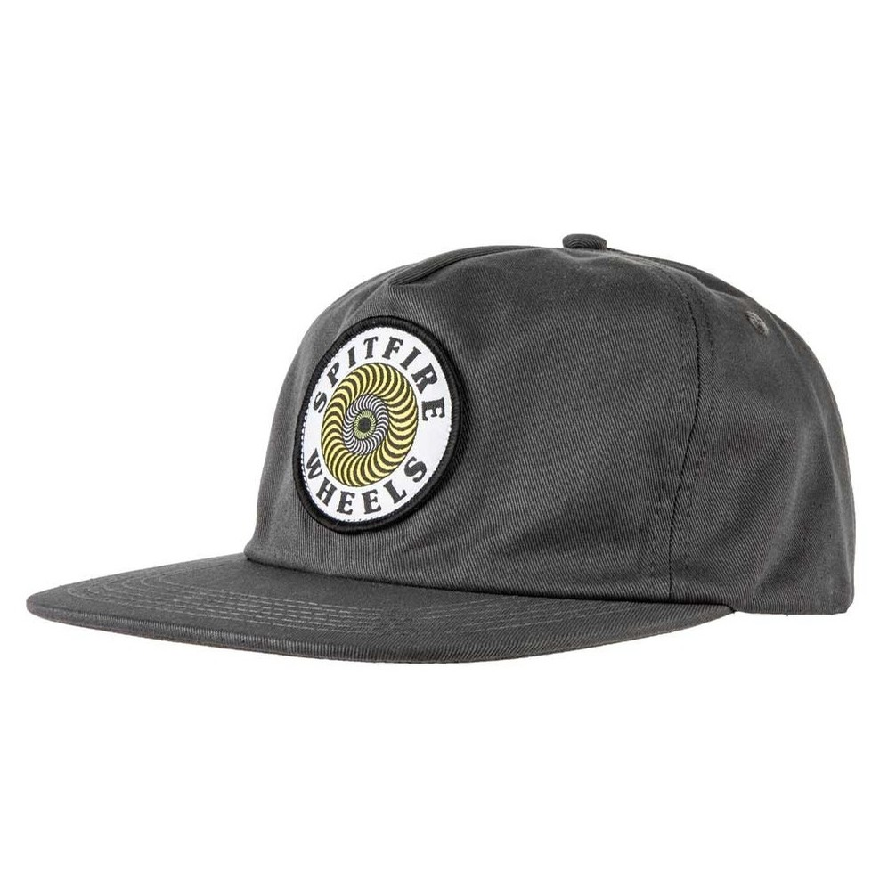 OG Swirl Patch Snapback (Charcoal)