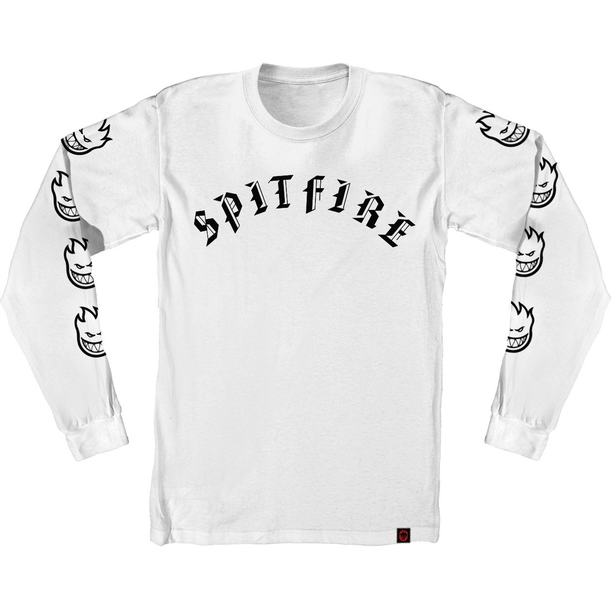 Old E L/S Tee (White/Black)