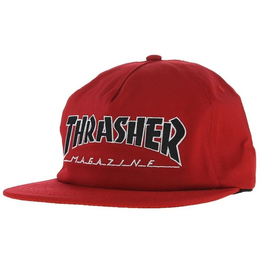 Outlined Snapback Hat (Red)
