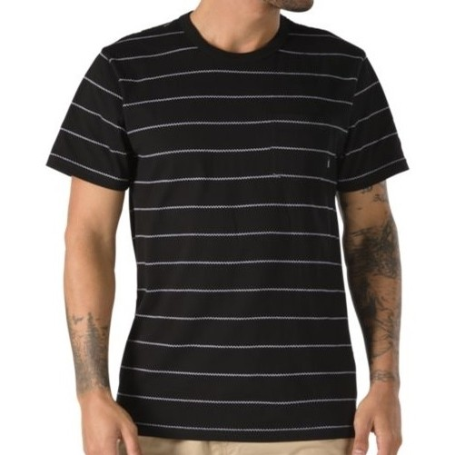 Checked In Stripe Crew (Black/White)