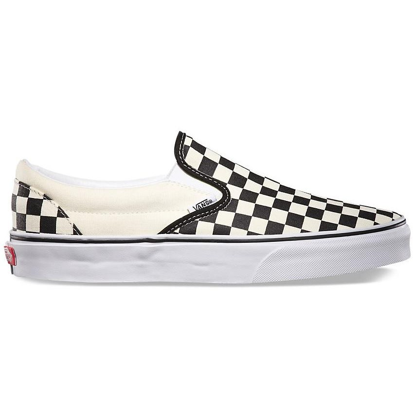 Classic Slip-On (Black-White Checkerboard/White)