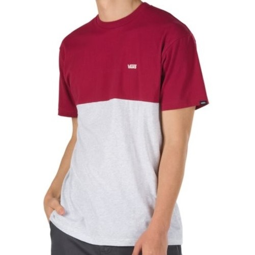 Colorblock Tee (Rhumba Red/Ash)
