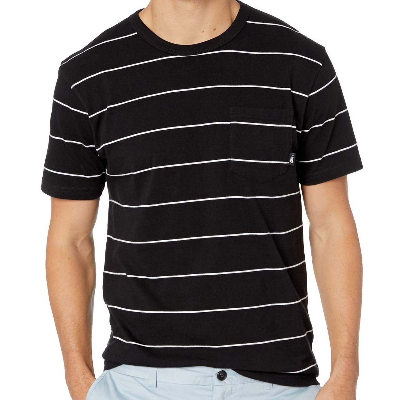 Glenwood Pocket Crew (Black/White)
