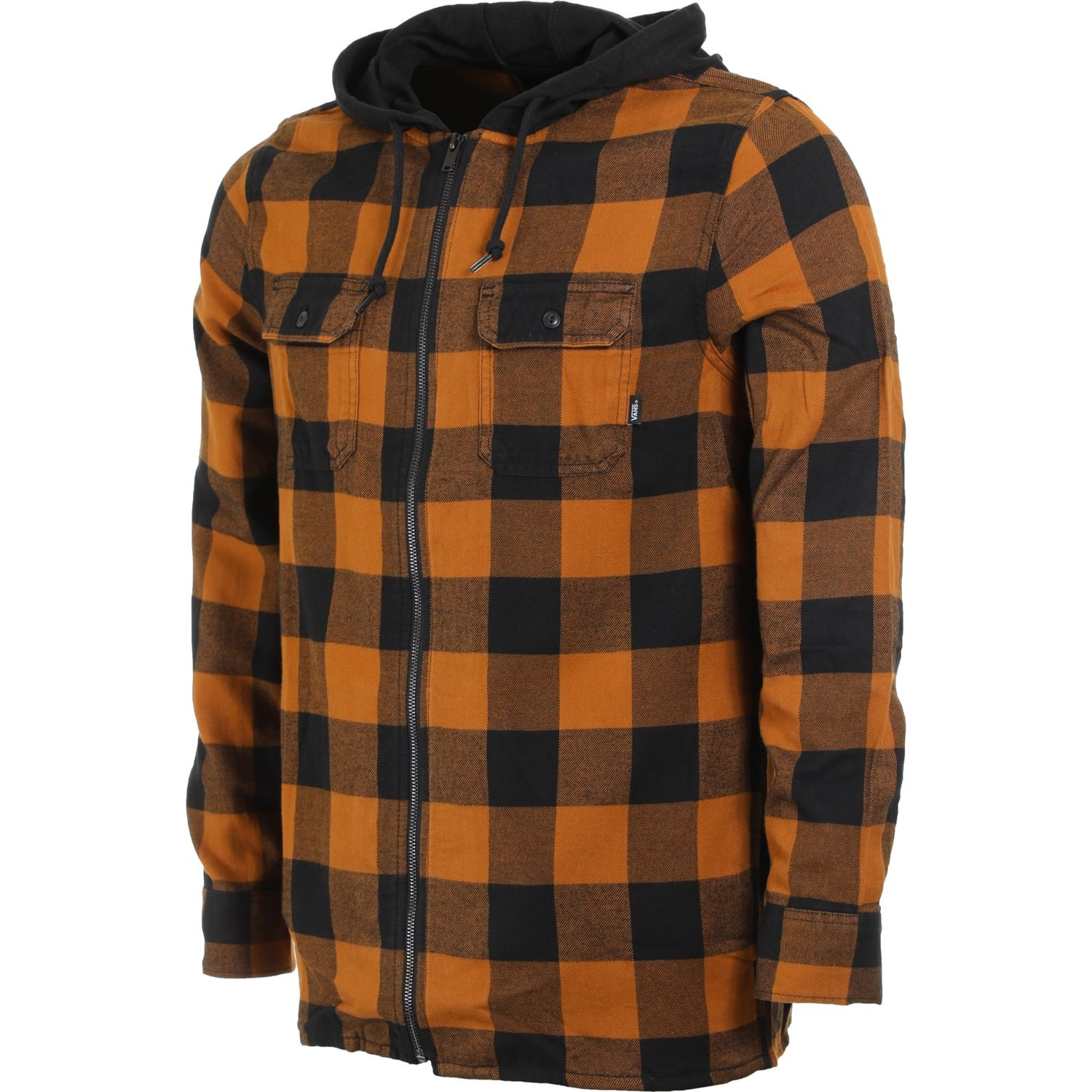 Kenton Hooded Flannel (Black/Rubber)