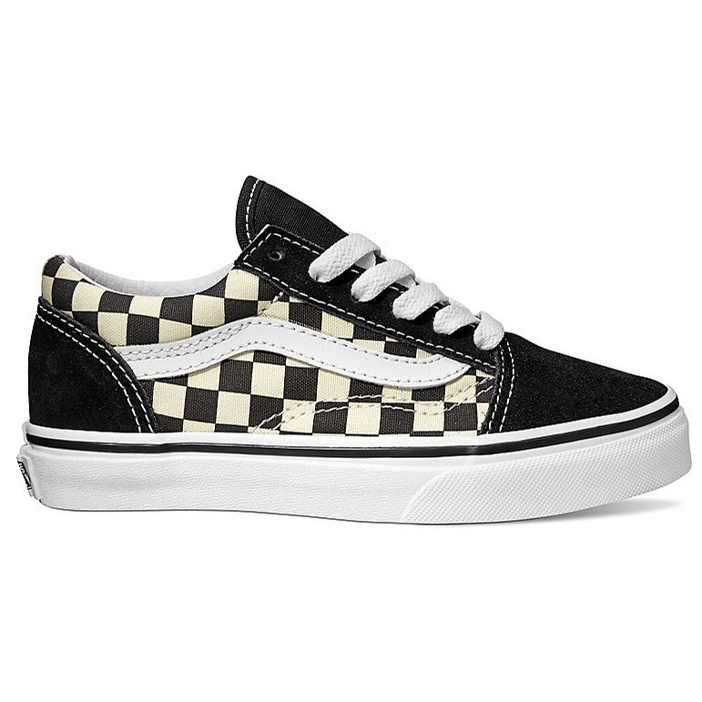 Kids Old Skool (Primary Check) Black/White