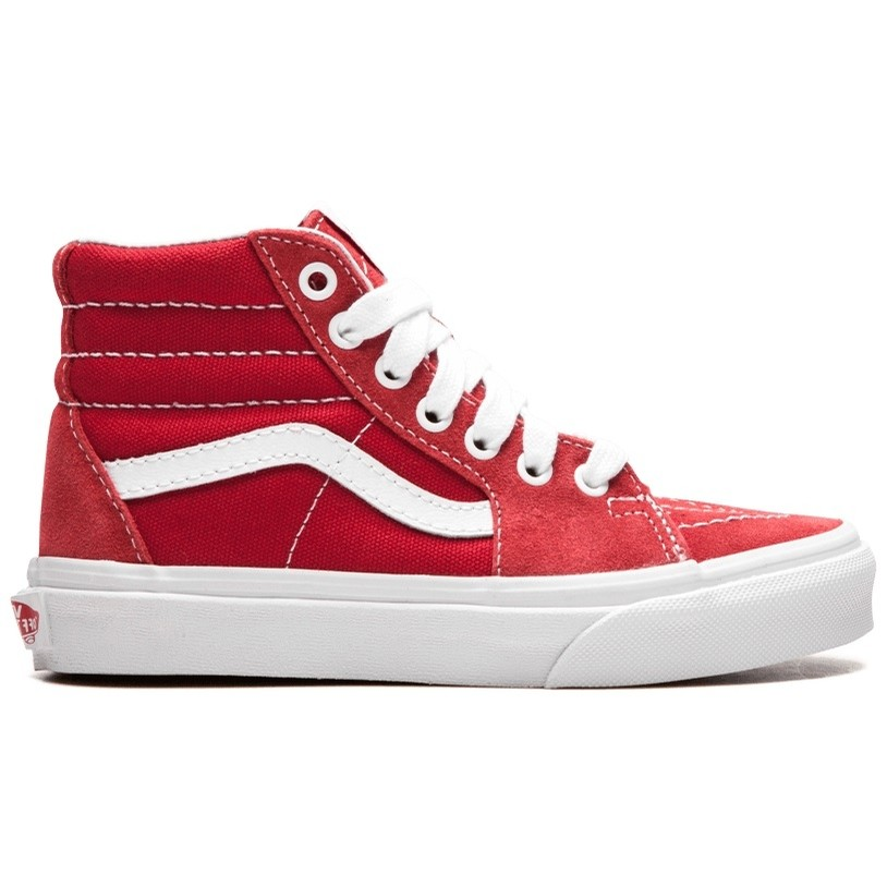 Kids Sk8-Hi (Varsity Canvas) Grade School Red/White