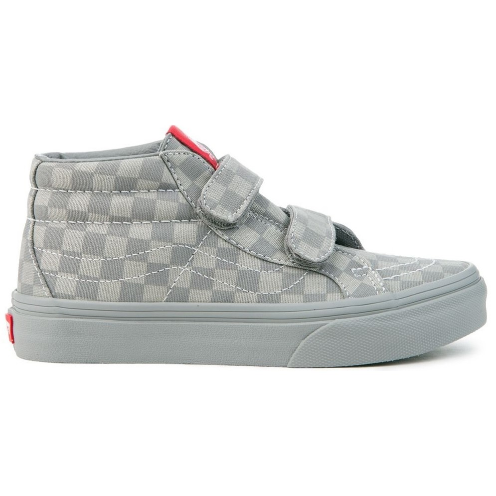Kids Sk8-Mid Reissue V (Mono Checkerboard Grey/Grey)