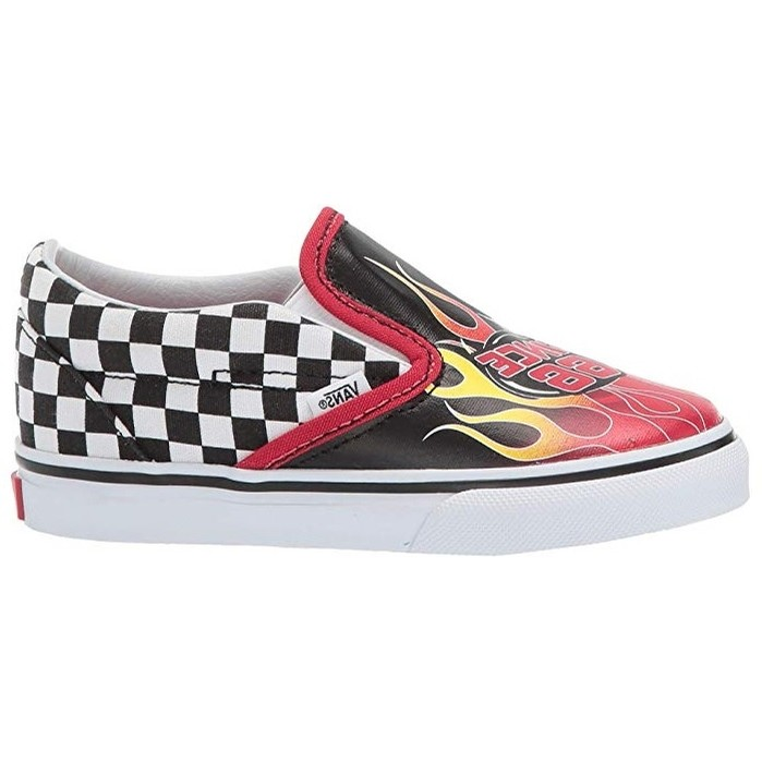 Toddler Classic Slip-On (Race Flame) Black/Racing Red/True White