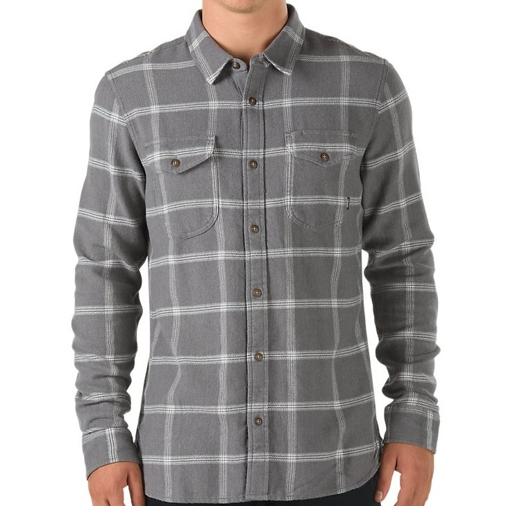 Wayland II Flannel (Pewter/White)