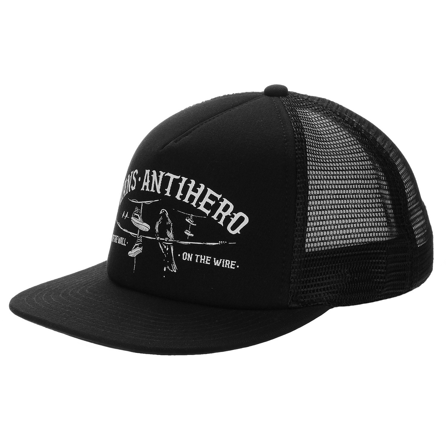 Vans X Antihero Wired Trucker Hat (Black/Zinnia)