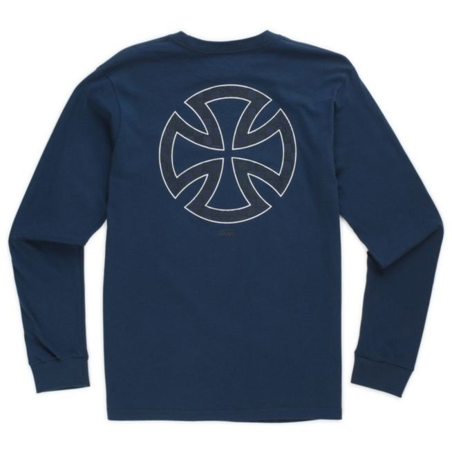Vans X Independent Dual Logo L/S Youth Tee (Dress Blues)